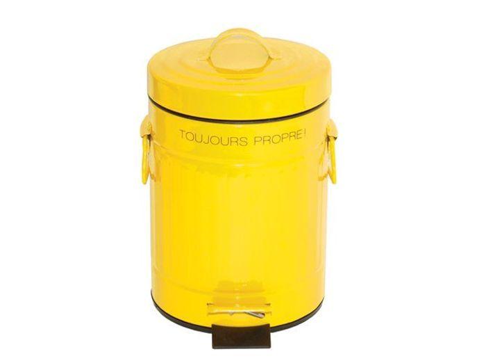 Deco jaune poubelle