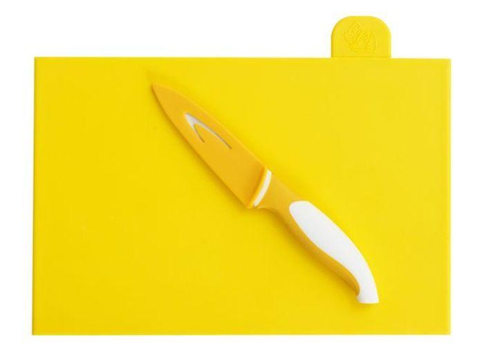 Deco jaune planche couteau