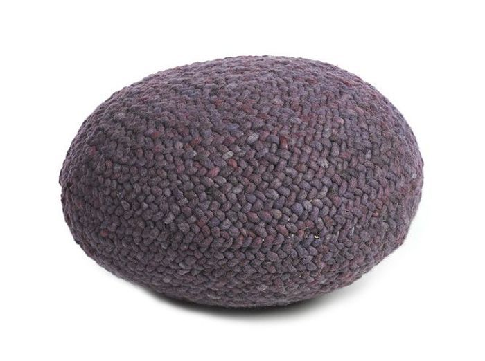 Pouf lounge laine made in design
