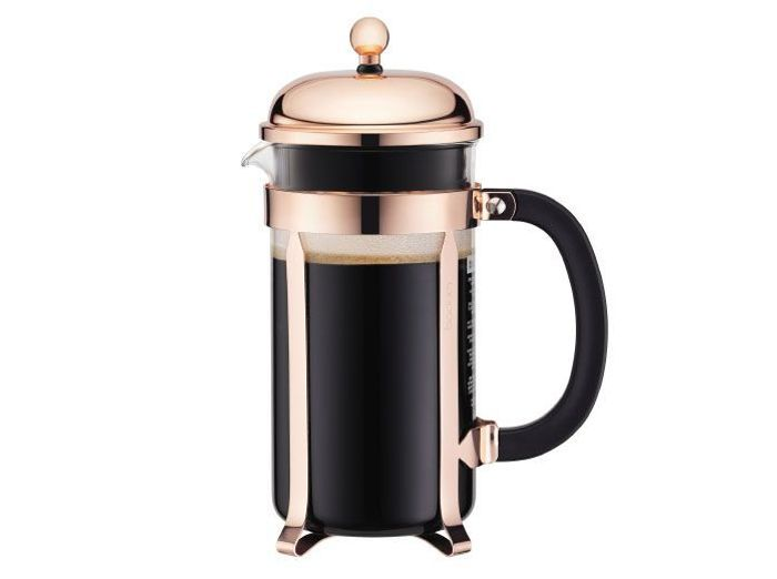 Cafetière design rose gold