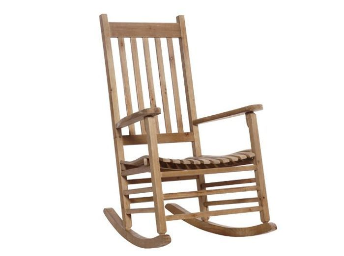 Un rocking chair en bois pour un air folk au salon
