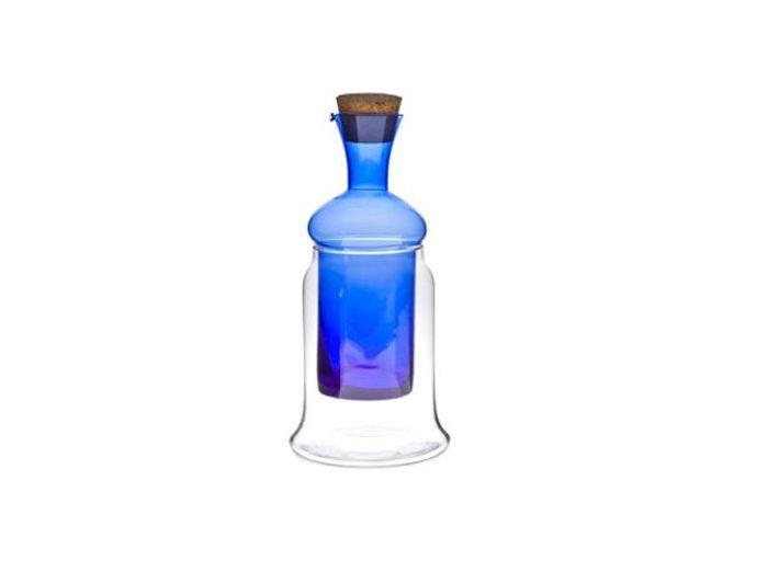 Bouteille verre bleue zara