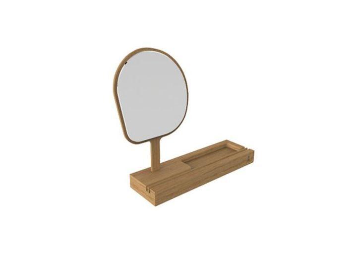 Vide poche miroir bois reine mere