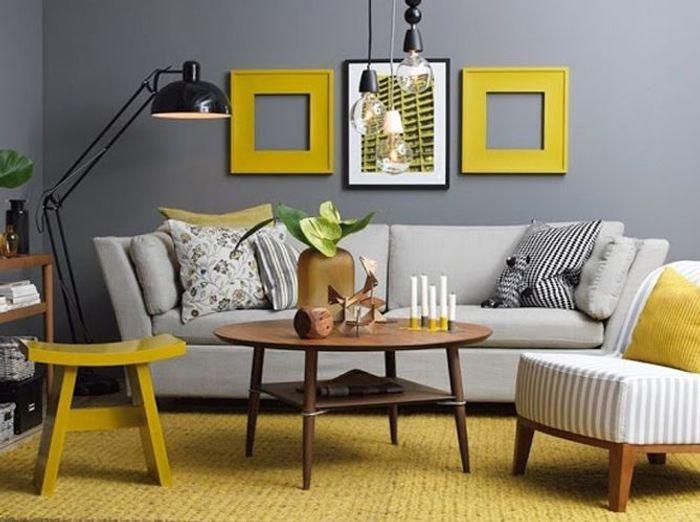 Le jaune moutarde pimente notre intérieur - Elle Décoration