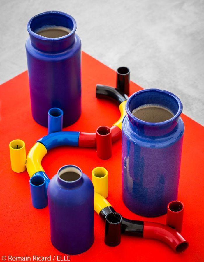 Vases et bougeoirs artisanaux