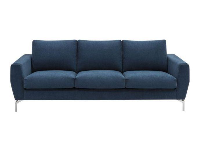 Un canapé bleu foncé aux lignes élégantes