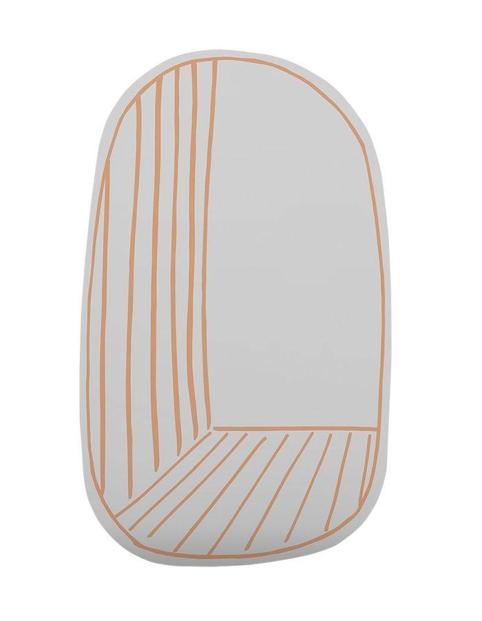 Un miroir orange
