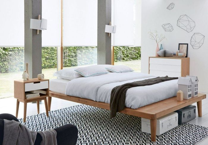 Une chambre blanche accessoiris e d un tapis graphique for Deco chambre blanche
