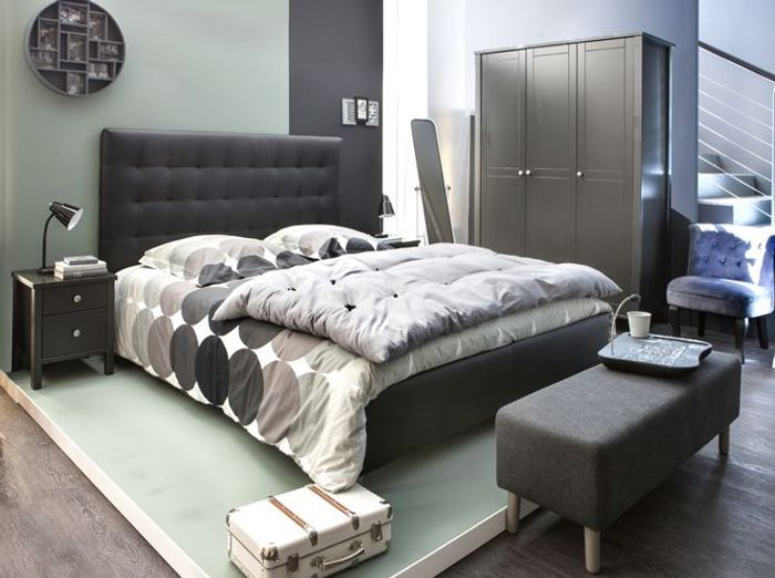 une chambre cosy pour l 39 automne elle d coration. Black Bedroom Furniture Sets. Home Design Ideas