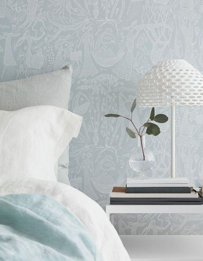 Une chambre bleue poétique