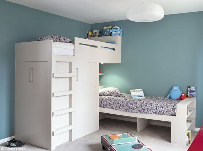 Chambres de gar on 40 super id es d co elle d coration for Amenagement chambre 2 enfants