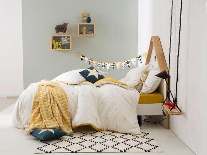 Chambre garcon grise et jaune id es de d coration et de mobilier pour la conception de la maison for Deco chambre de garcon
