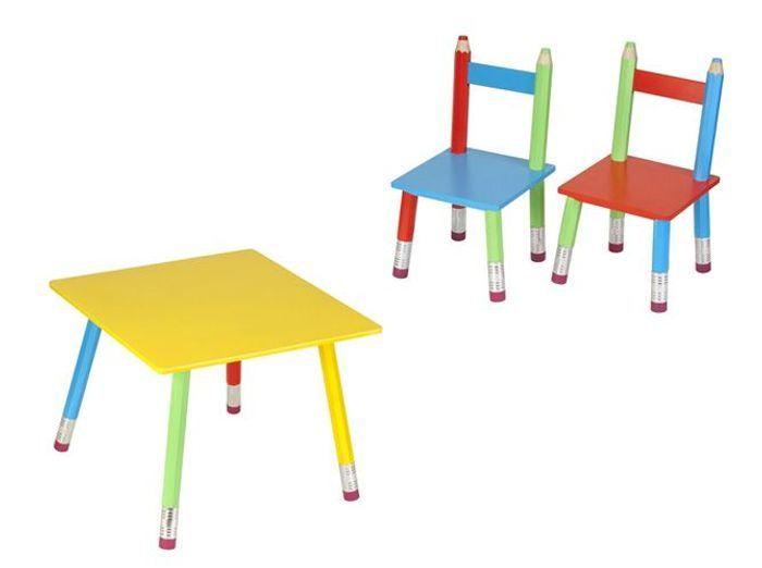 Enfants une d co fun et color e pour s 39 amuser elle for Table et chaises pour enfants