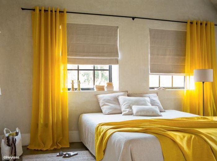 Id e d co une touche de couleur dans votre chambre elle d coration - Couleur dans une chambre ...