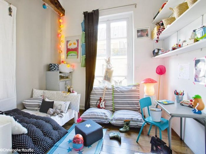 Les 40 plus belles chambres de petites filles elle - Petit canape pour chambre ado ...
