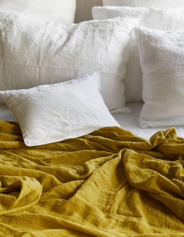 linge de lit on ne se lassera jamais du lin elle. Black Bedroom Furniture Sets. Home Design Ideas