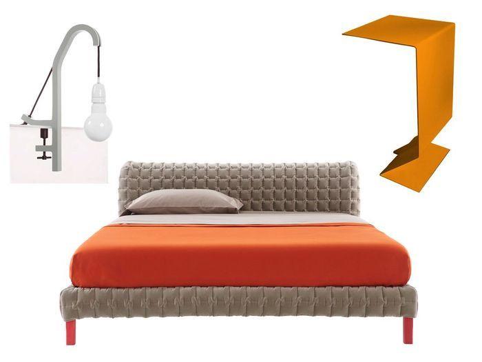 Deco Chambre Orange Et Beige : Lit chevet lampe le bon mix pour une chambre idéale