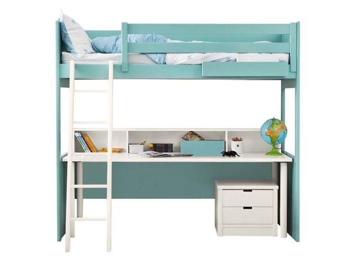 Un lit mezzanine avec bureau