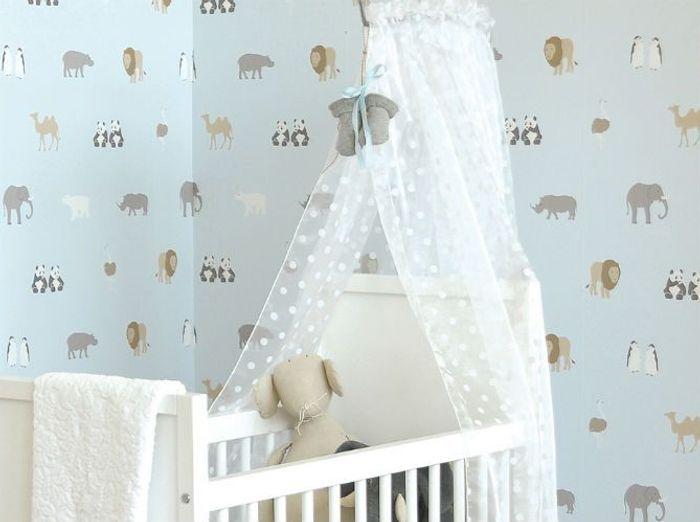 idee papier peint chambre bebe. Black Bedroom Furniture Sets. Home Design Ideas