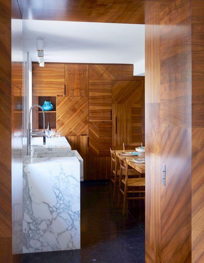 Cuisine de rêve en bois et marbre