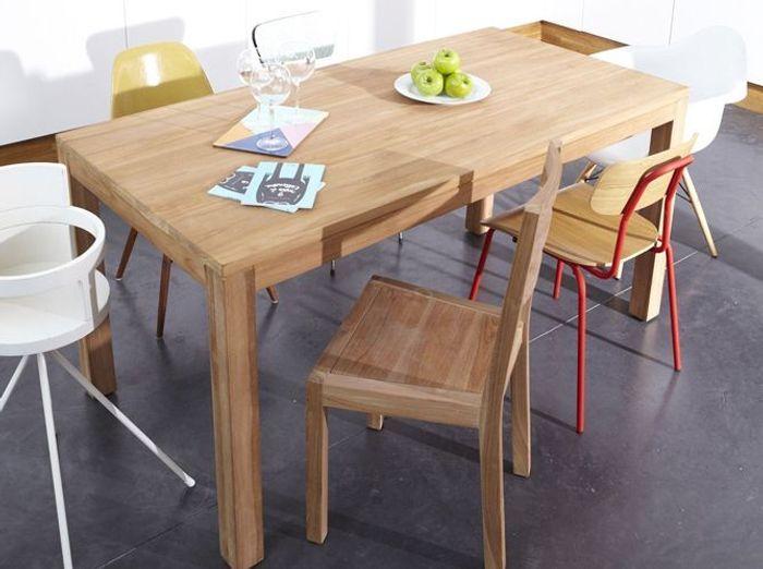 coup de cœur pour les chaises dépareillées ! - elle décoration - Chaise Pour Table En Bois