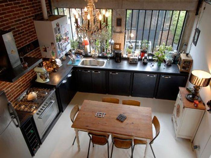 Cuisine vivre les bonnes id es des pros elle d coration - Cuisine loft industriel ...