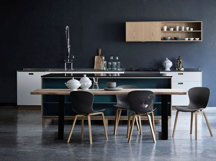 cuisine bleue je fonds pour une cuisine bleue elle d coration. Black Bedroom Furniture Sets. Home Design Ideas