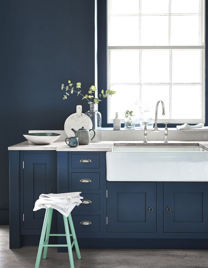 Cuisine bleue Little Greene