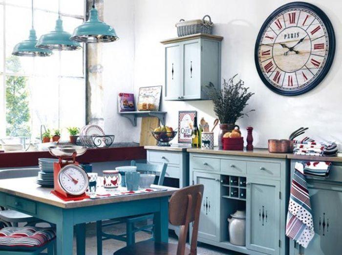 La Cuisine Esprit Campagne Nous Charme Elle Décoration - Decoration cuisine campagne pour idees de deco de cuisine