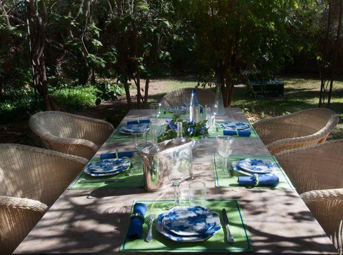 Deco de table ete scenes de lin