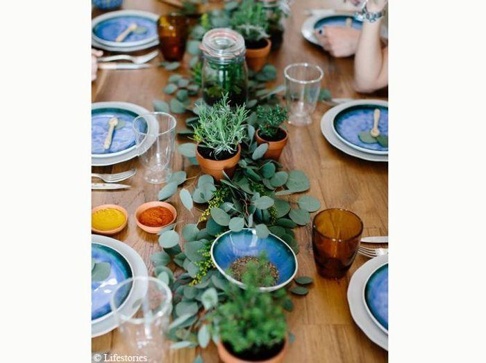 Decoration de table vegetale