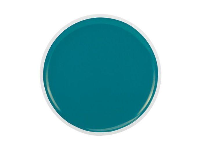 assiette bleu petrole