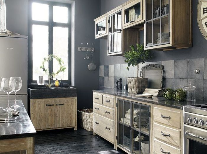 cuisine campagne d couvrez toutes nos inspirations elle d coration. Black Bedroom Furniture Sets. Home Design Ideas