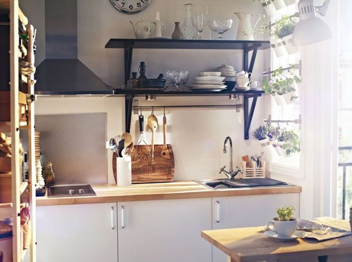 Des petites cuisines astucieuses et l gantes elle for Petites cuisines ikea