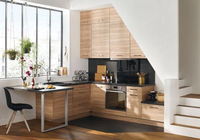 Une petite cuisine sans aucune perte d'espace