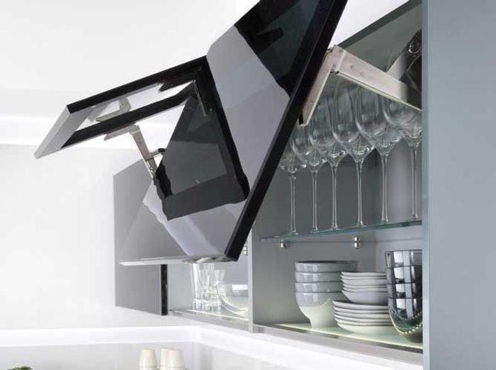 des placards pratiques pour la cuisine - elle décoration - Meuble Haut Cuisine Vitre