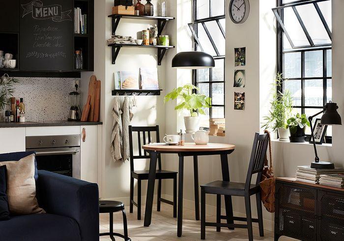 D couvrez les plus belles tables de cuisine du moment for Table de cuisine chez ikea