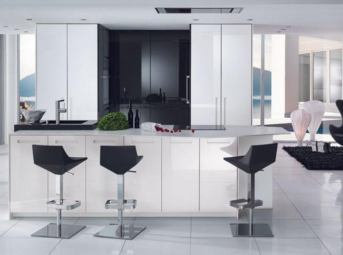 Stunning cuisine americaine noir et blanc gallery for Cuisine americaine blanche