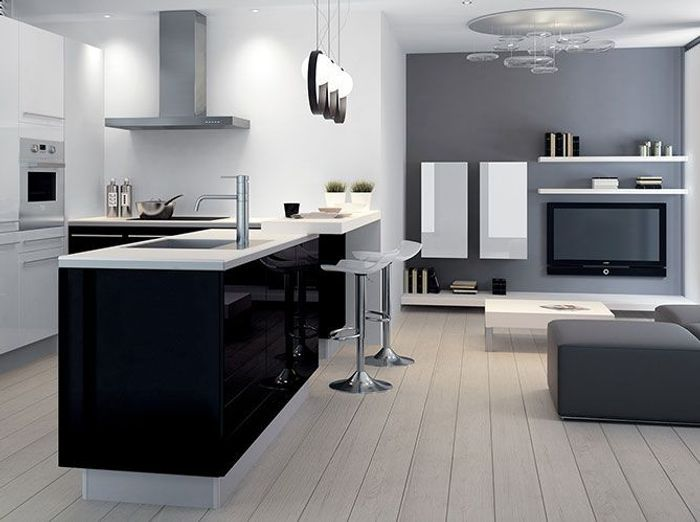 mettez de la couleur en cuisine elle d coration. Black Bedroom Furniture Sets. Home Design Ideas