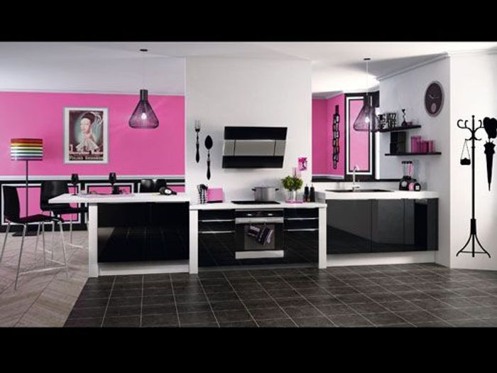 cuisine cuisine noir et aubergine 1000 id es sur la. Black Bedroom Furniture Sets. Home Design Ideas