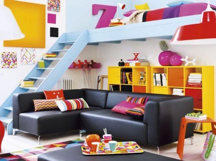 Des meubles astucieux et sympas pour votre studio elle for Salon pour petit espace