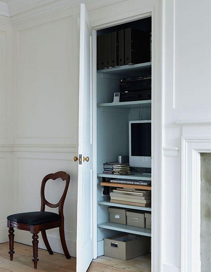 Placer le coin bureau dans un placard