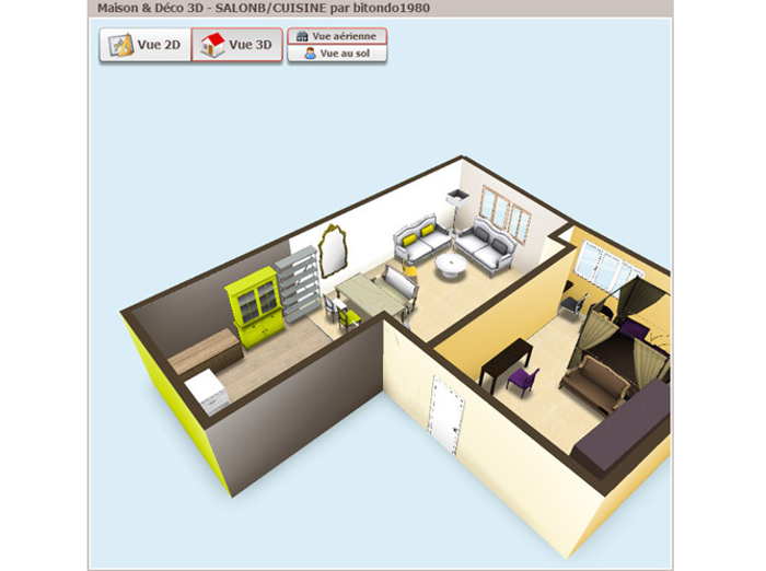 vos petites surfaces en 3d elle d coration. Black Bedroom Furniture Sets. Home Design Ideas