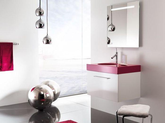 des salles de bains spéciales femmes - elle décoration - Salle De Bain Gris Et Fushia