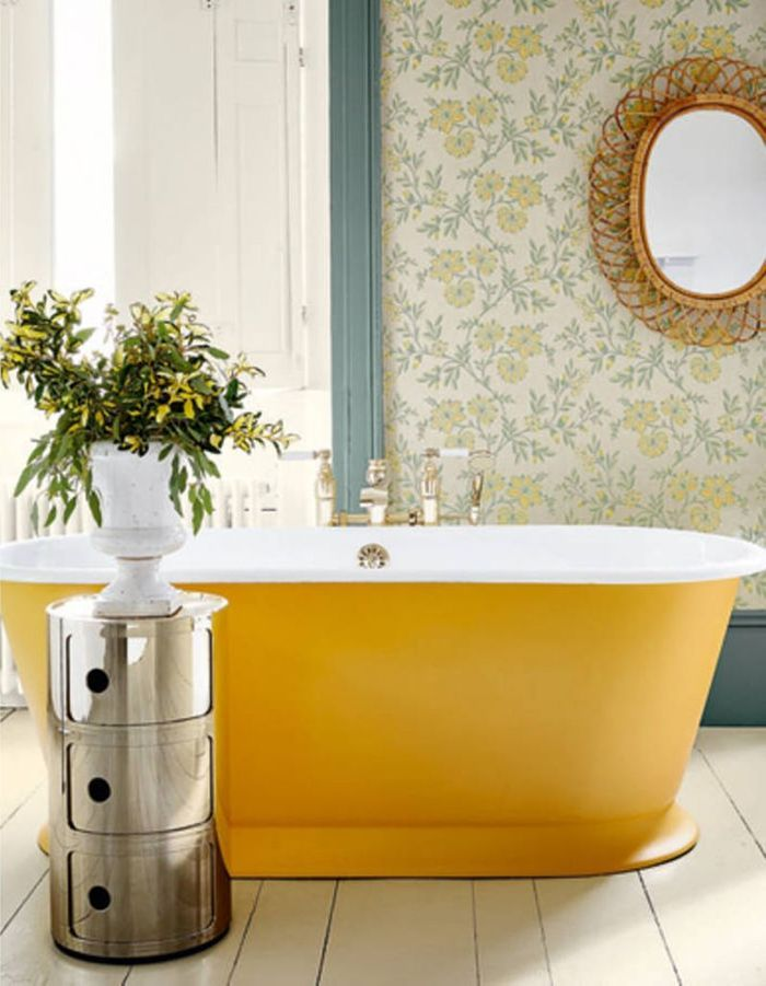 45 id es d co pour la salle de bains elle d coration - Toilette au mur ...