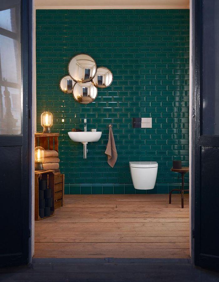 Salle de bains bleue Duravit
