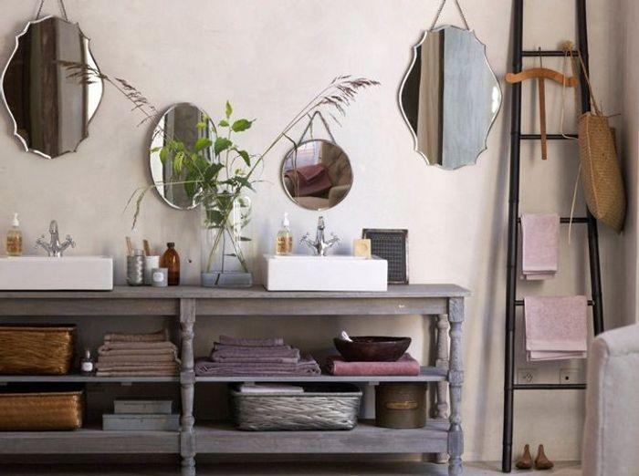 les accessoires font la d co dans la salle de bains elle d coration. Black Bedroom Furniture Sets. Home Design Ideas
