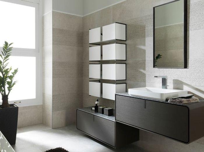 Armoire pivotante pour la salle de bains