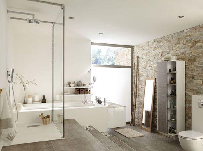Douche l 39 italienne tous les styles sont permis elle - Leroy merlin salle de bain douche italienne ...