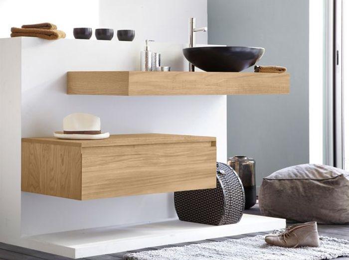 Tendance du jour : les meubles de salle de bains en bois - Elle ...